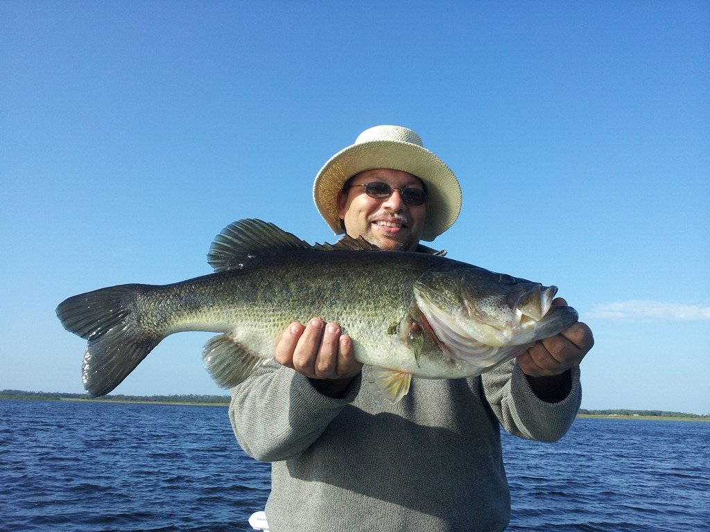 Big fish lake toho with capt john leech fishing report for Leech lake fishing report